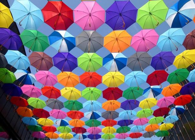 farebné dáždniky